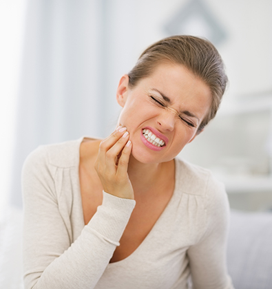 A Woman With Dental Pain